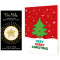 Happy Tree Holiday Cards & Gold Star Enamel Pin Set