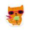 Cool Cat: Removable Vinyl Sticker