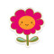 Joyful Flower: Removable Vinyl Sticker