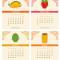 2021 Fun Food Desk Calendar: January - April