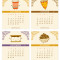2021 Fun Food Desk Calendar: September - December