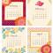 2021 Flora Fauna Desk Calendar: January - April