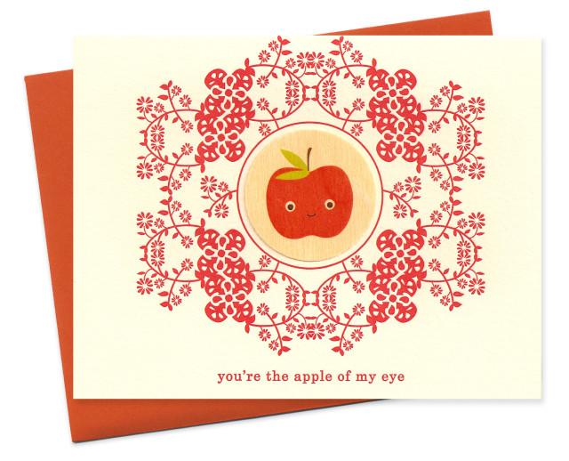 folksy floral apple