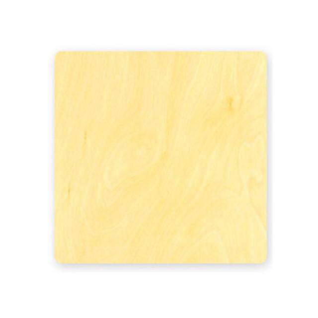 "Flat Birch Square Card (5""x5"")"