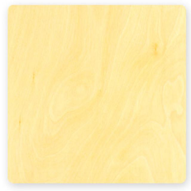 "Flat Birch Square Card (7""x7"")"
