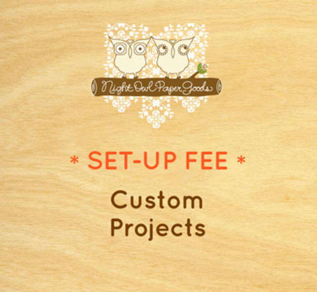 Set-Up Fee for Custom Projects