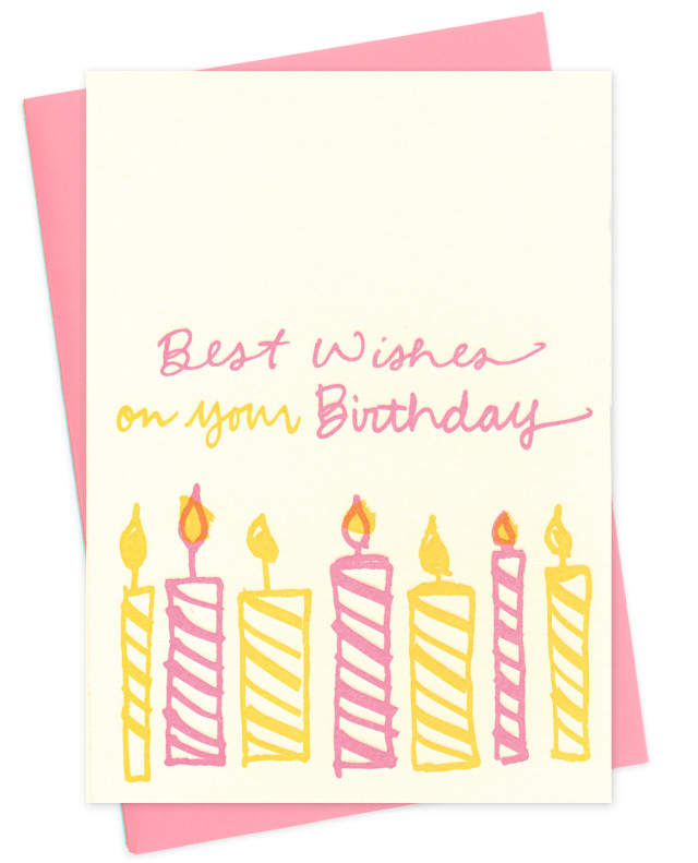 birthday candles • pink