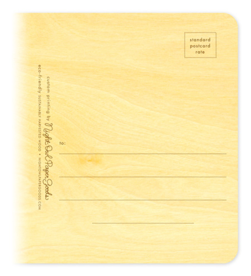 Standard postal information on back