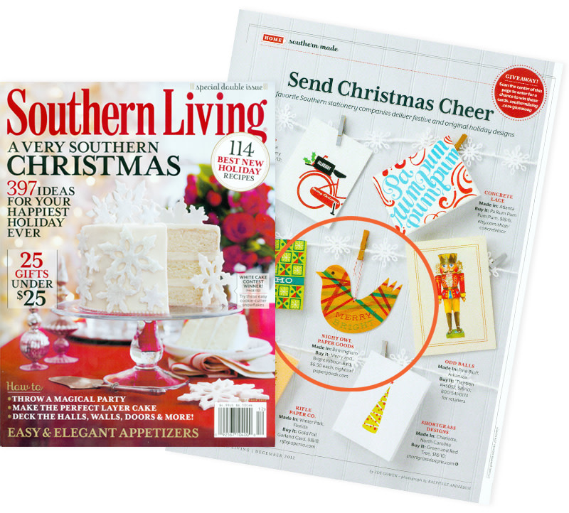 As seen in Southern Living December 2012