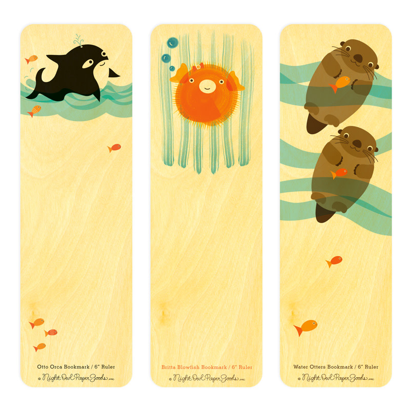 Sea Critters Bookmark Gift Set