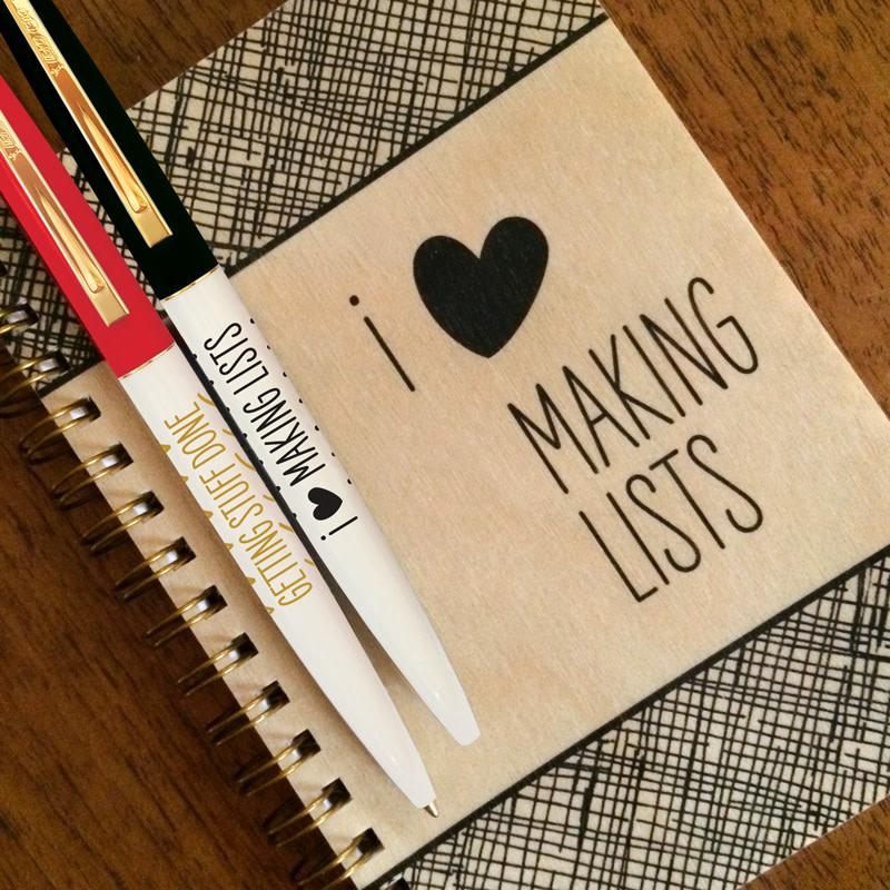 List Maker Gift Set