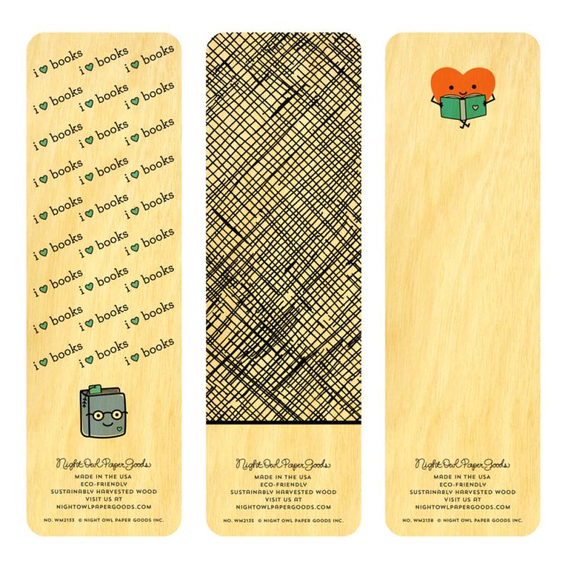 I Heart Reading Bookmark Set