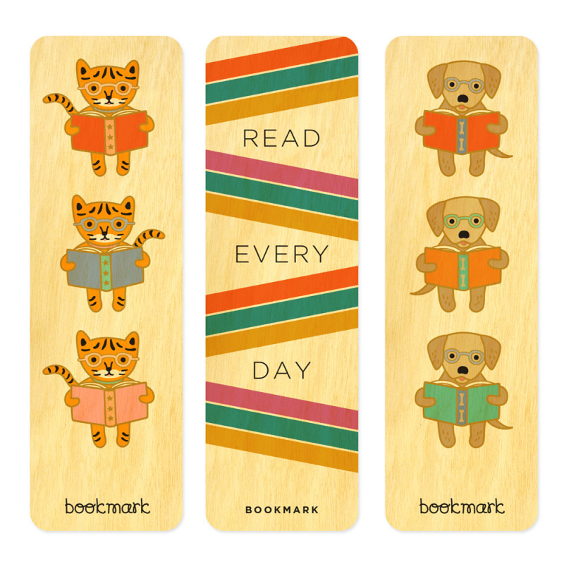 Reading Critters Bookmark Set