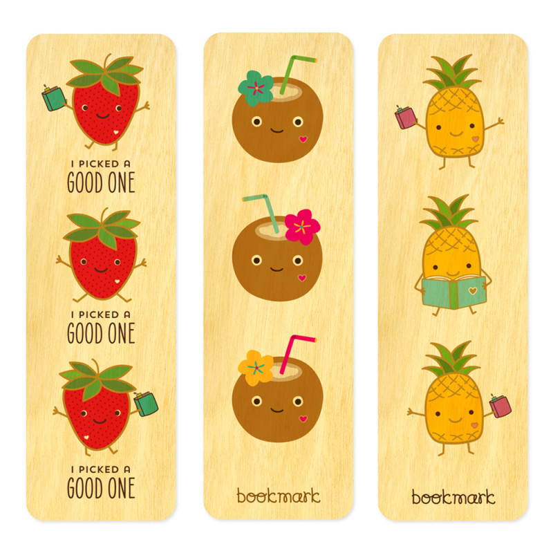 Fruity Friends Bookmark Set