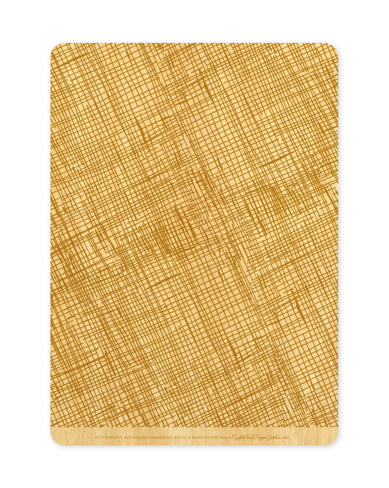 Golden Crosshatch Back (Available in Landscape or Portrait)