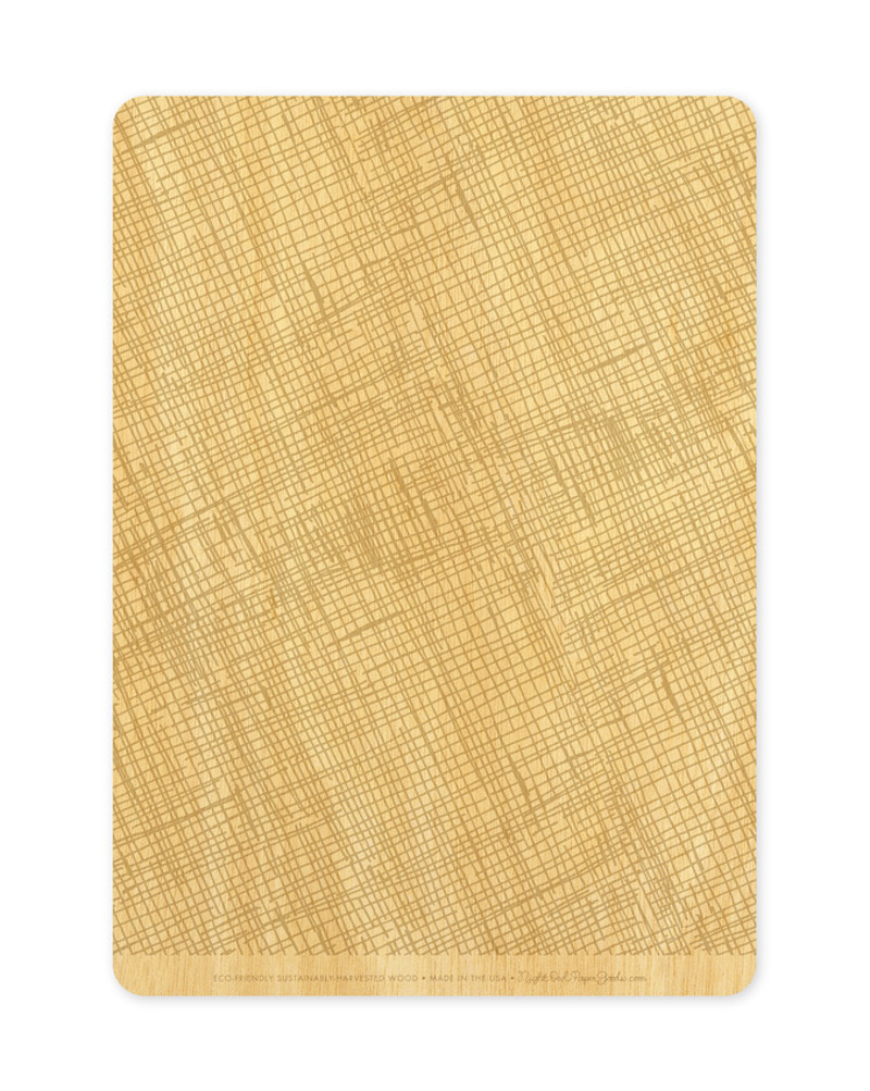 Khaki Crosshatch Back (Available in Landscape or Portrait)