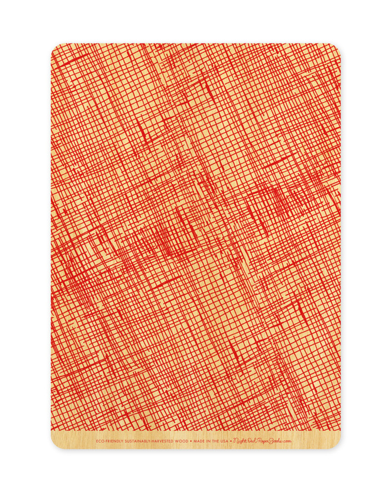 Red Crosshatch Back (Available in Landscape or Portrait)