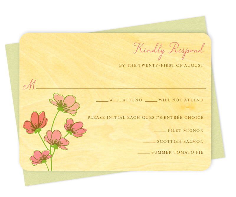 Gifts For Wedding Night: Cosmos Reply Card ‹ Wedding « Night Owl Paper Goods