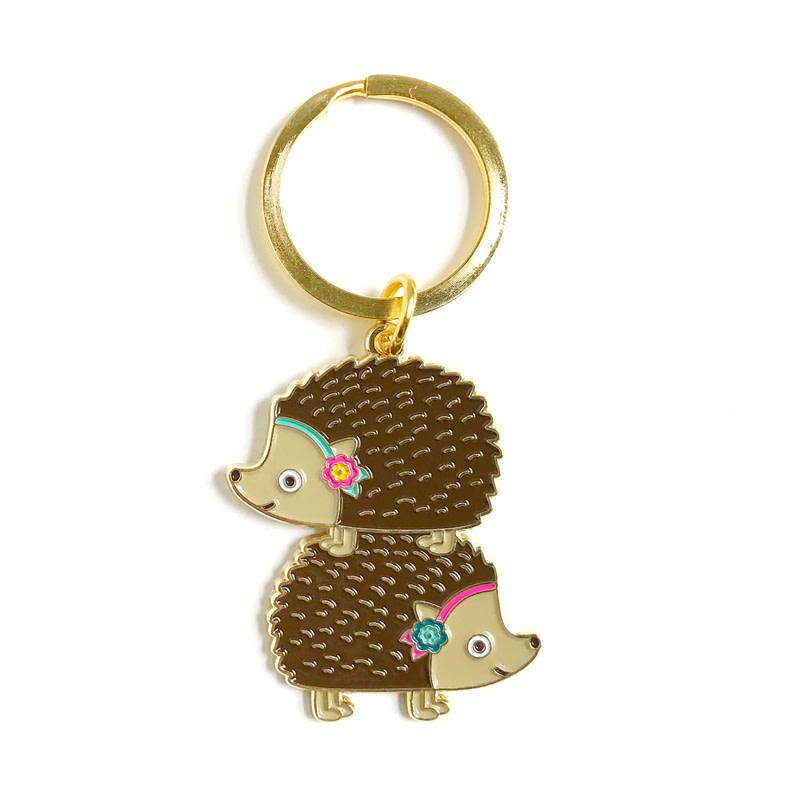 Gold Night Owl Paper Goods Keychain