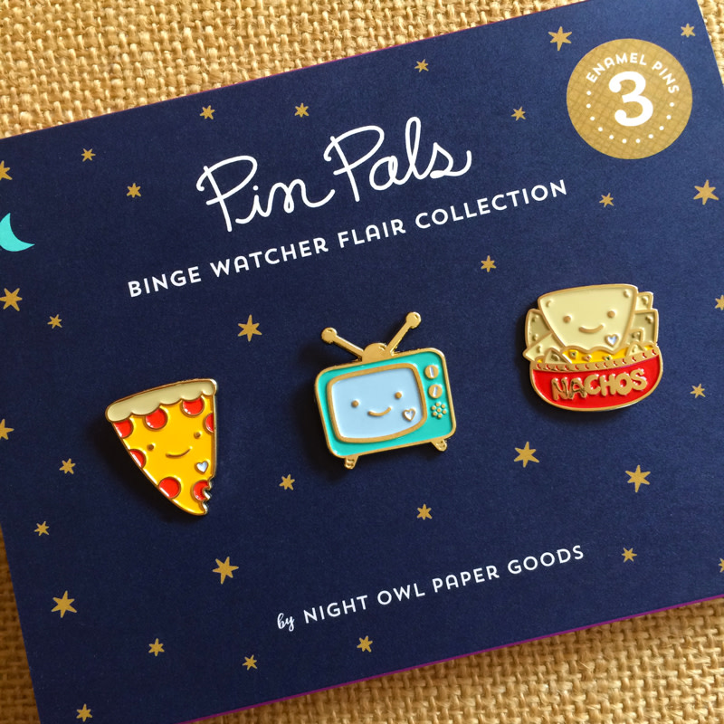 Binge Watcher Flair Pin Pals Gift Set