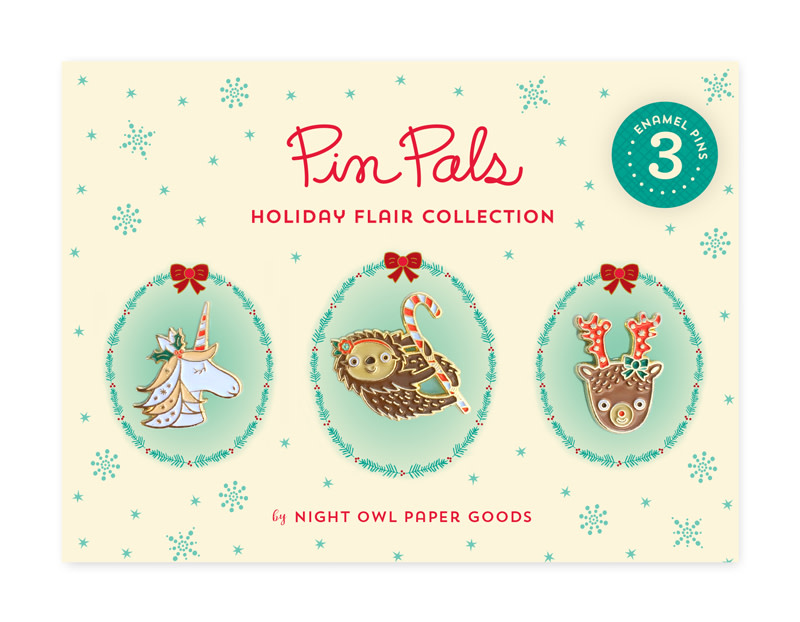 Holiday Flair Pin Pals Gift Set