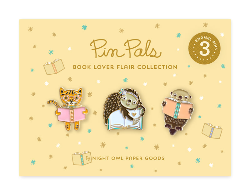 Book Lover Flair Pin Pals Gift Set