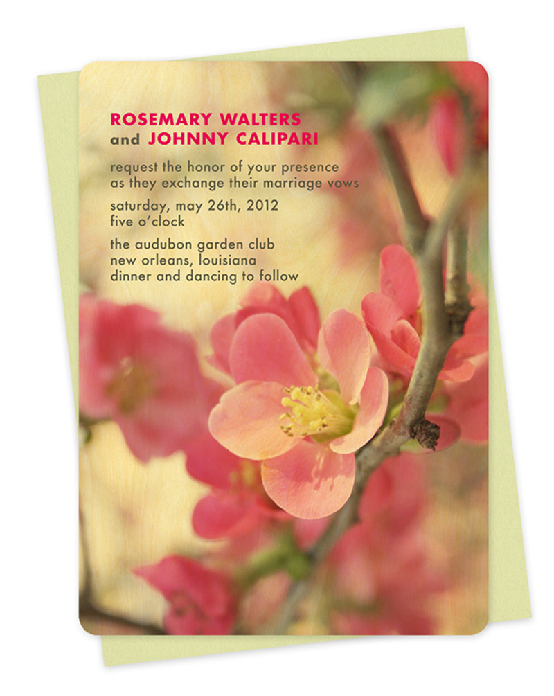 Flowering Quince Invitation
