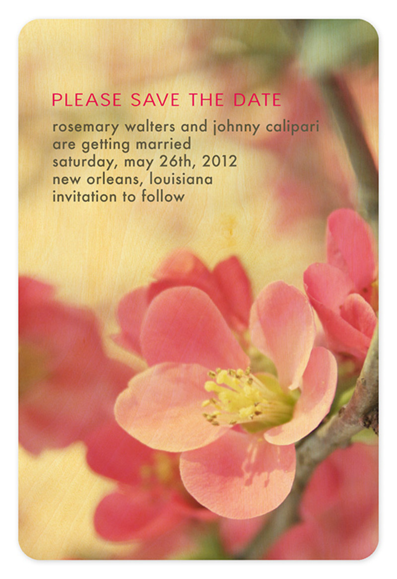 Flowering Quince Save the Date
