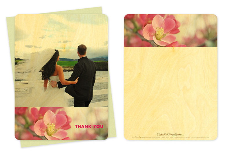 Flowering Quince Photo Thank You Card