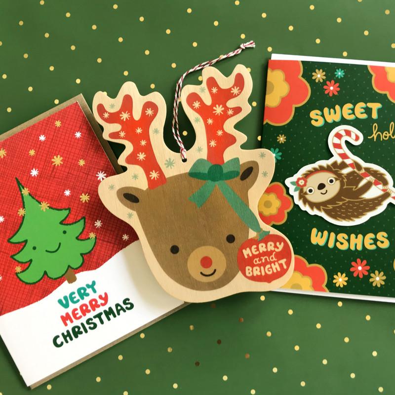 Bright Reindeer Ornament