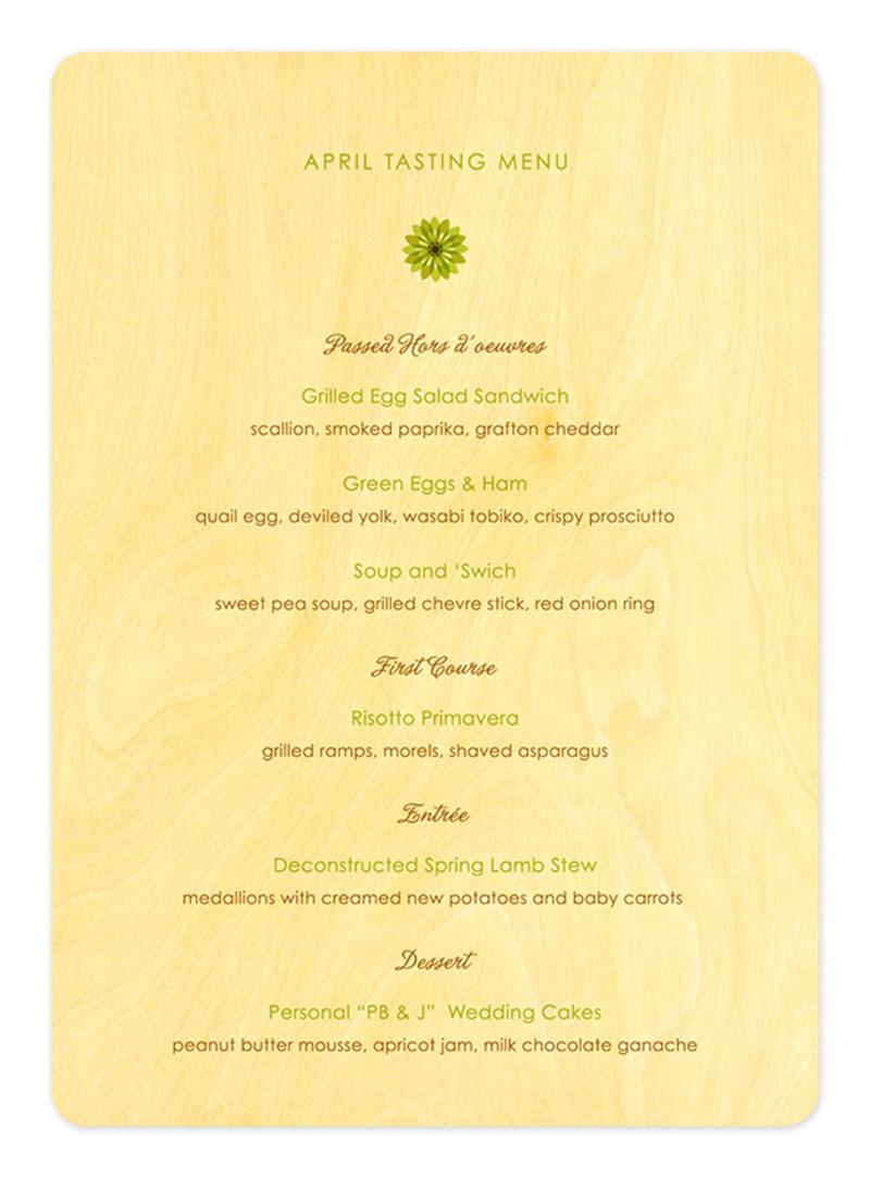modern daisy menu