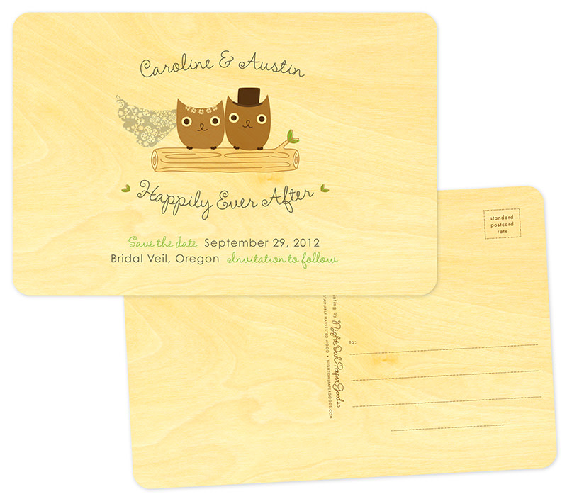 With Standard Postcard Back