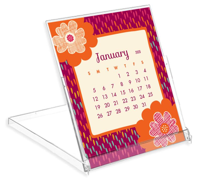 2020 Flora Fauna Desk Calendar