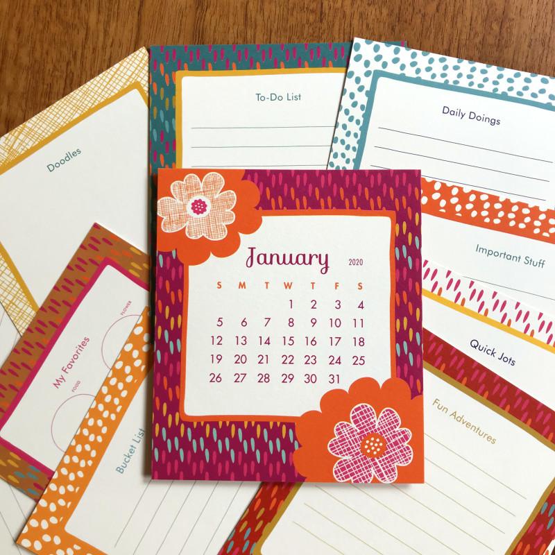 Calendar back detail