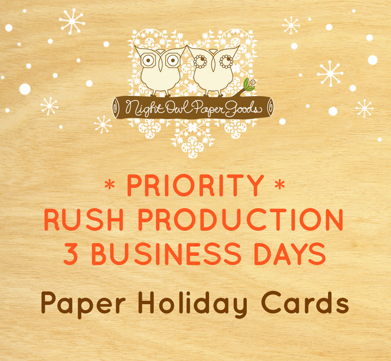 Priority Rush Production - Paper Holiday Cards - 3 Business Days