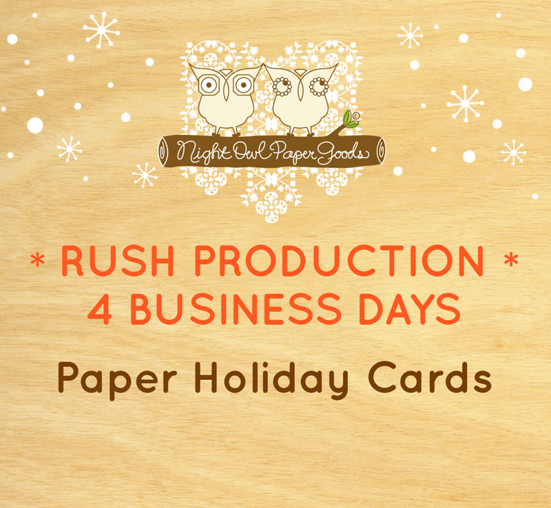 Rush Production - Paper Holiday Cards - 4 Business Days