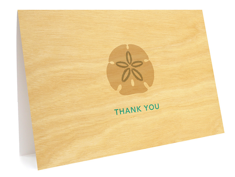 Sand Dollar Folded Thank You Card