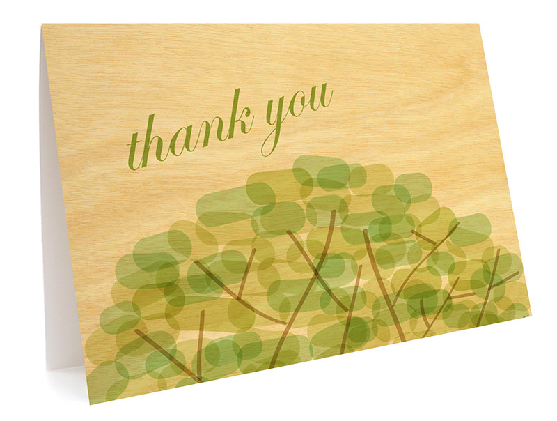 Treetop Folded Thank You Card