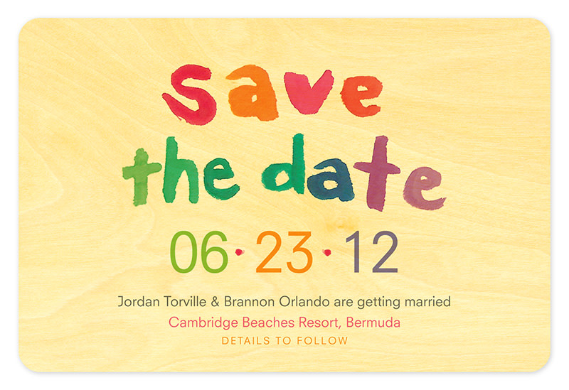 Rainbow Watercolor Save the Date