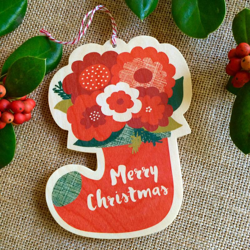 Flower Stocking Ornament