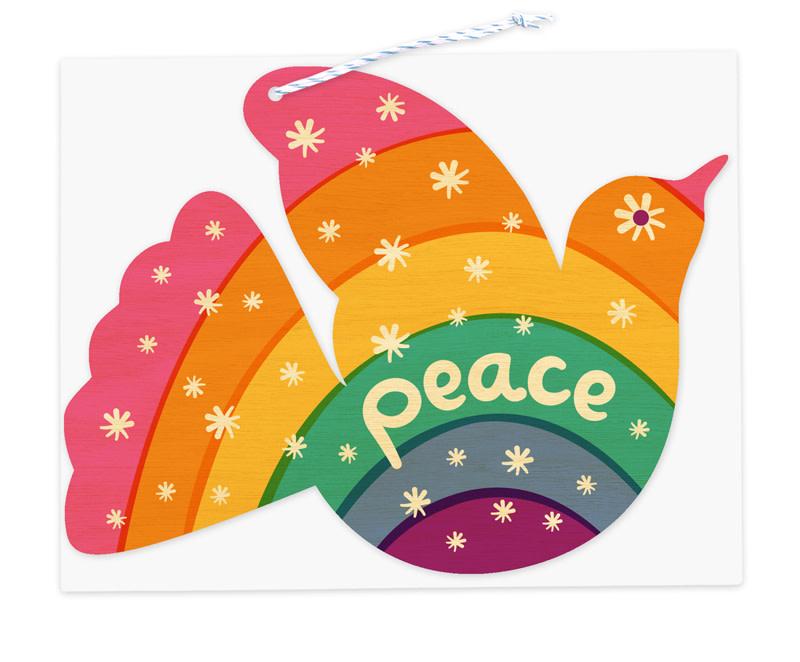 Rainbow Dove Ornament