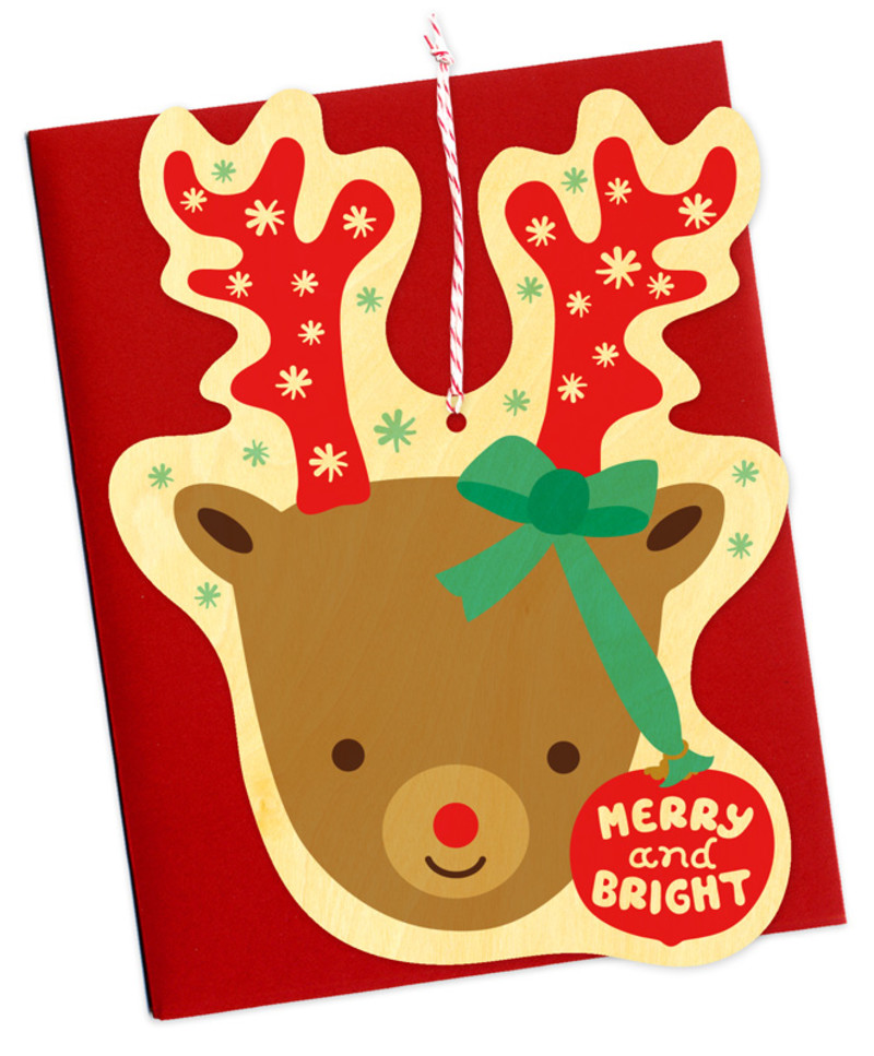 Bright Reindeer Ornament