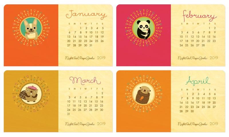 2019 Classic Critter Desk Calendar