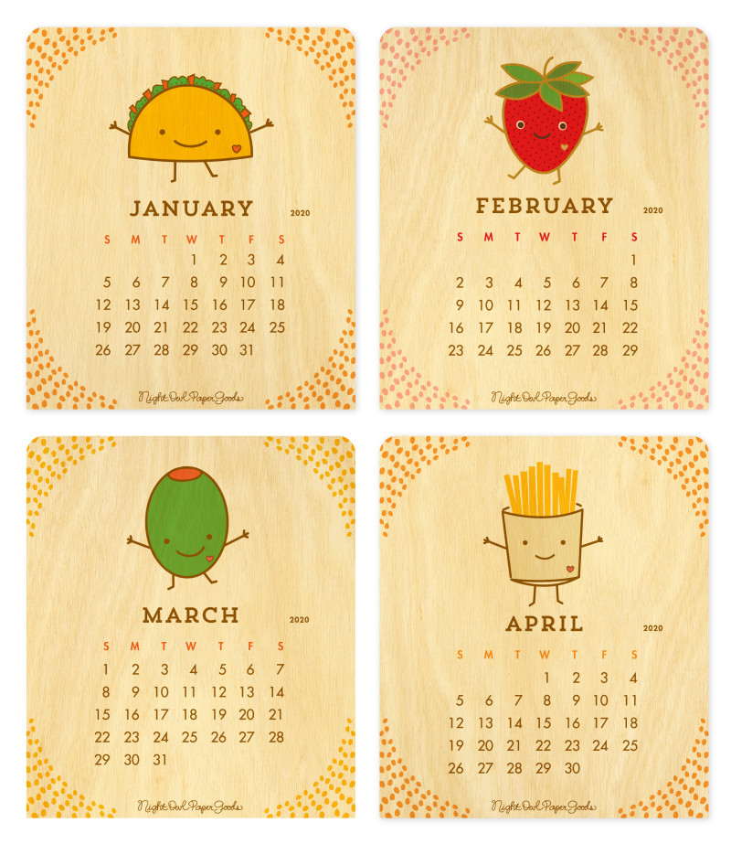 Fun 2020 Calendar 2020 Fun Food Desk Calendar ‹ 2020 Calendars ‹ Gifts « Night Owl