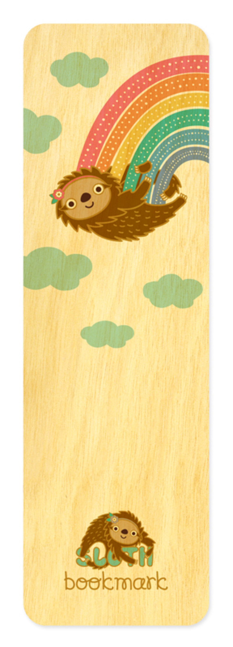 Rainbow Sloth • Bookmark