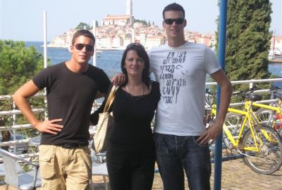 Dragana and her sons