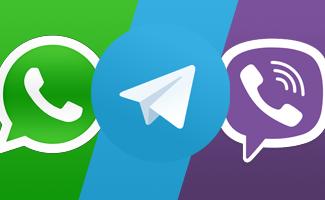 Сравнение Whatsapp Viber Telegram