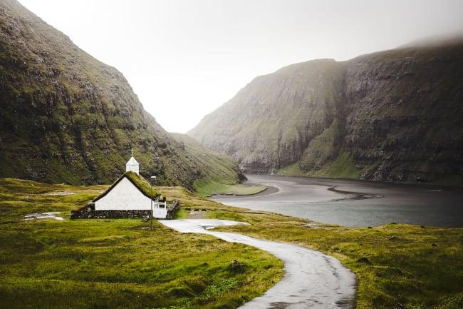 Saksun – besøg hos fårebonde og Nordens Hus
