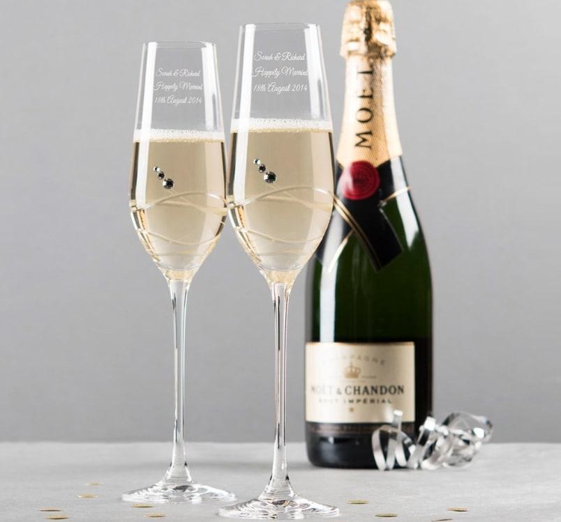 picture of Swarovski champagne flutes
