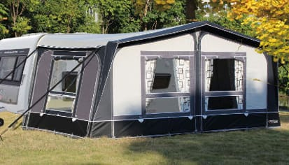 picture of a full awning on a caravan